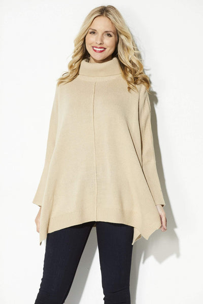 Camel Turtle Neck Pullover
