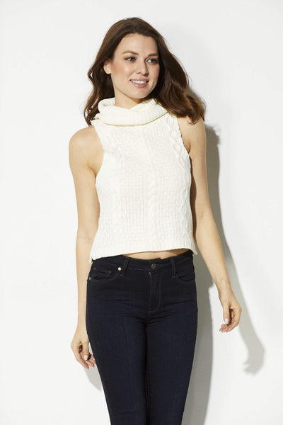 Bishop + Young - Cropped Cowl Neck Sweater