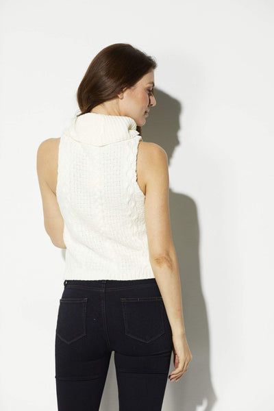 Bishop + Young - Cropped Cowl Neck Sweater - rear