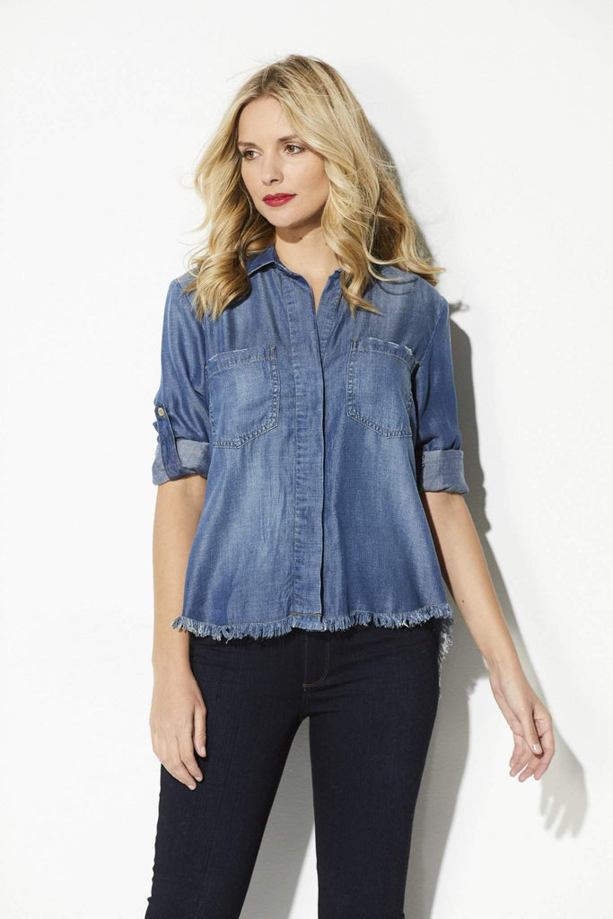 Bella Dahl - Fray Hem Button Down