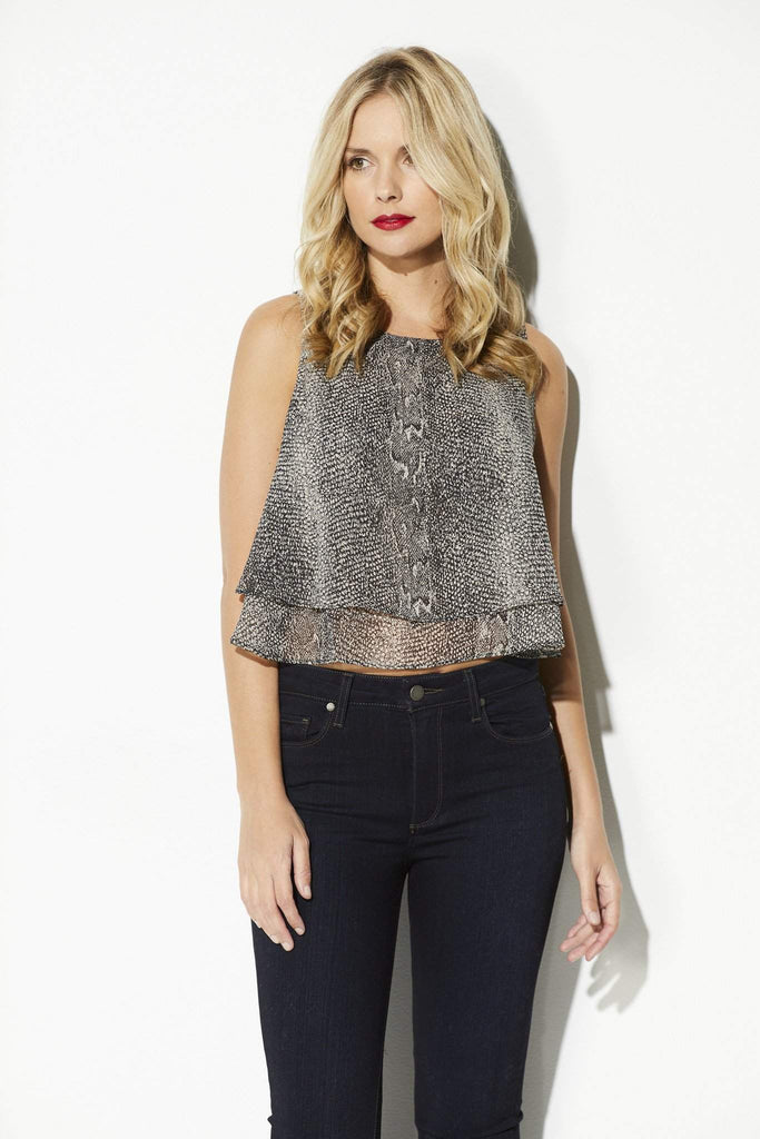 Bishop + Young - Snake Skin Double Layer Tank - front
