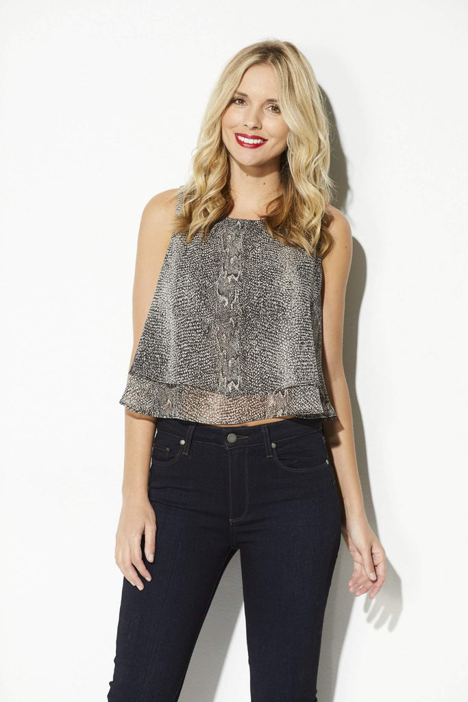 Bishop + Young - Snake Skin Double Layer Tank