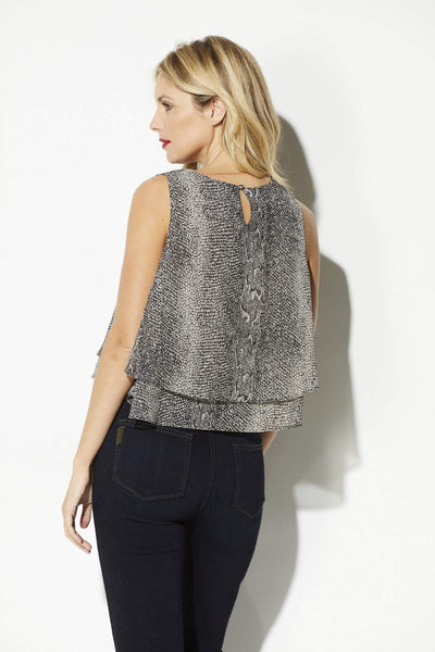 Bishop + Young - Snake Skin Double Layer Tank - rear