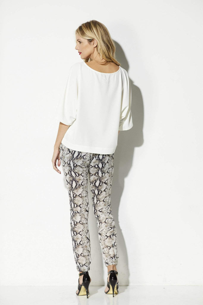 Bishop + Young - Snake Print Joggers - rear