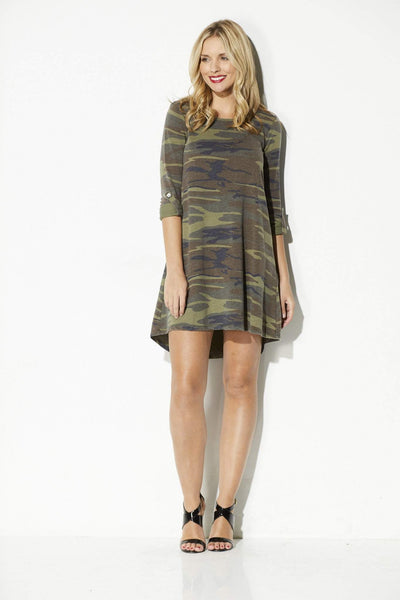 Z Supply - The Camo Symphony Dress - front