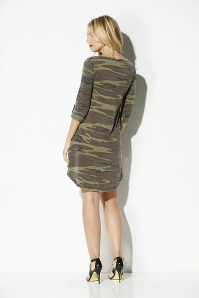 Z Supply - The Camo Symphony Dress - rear