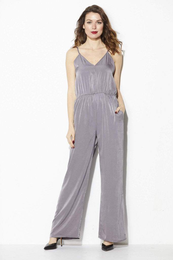 Everly - Silver Jumpsuit - Front
