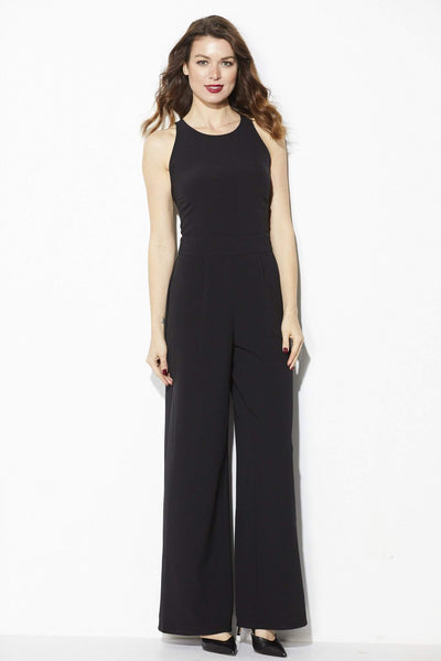 Cupcakes & Cashmere - Black High Neck Jumpsuit  - Front