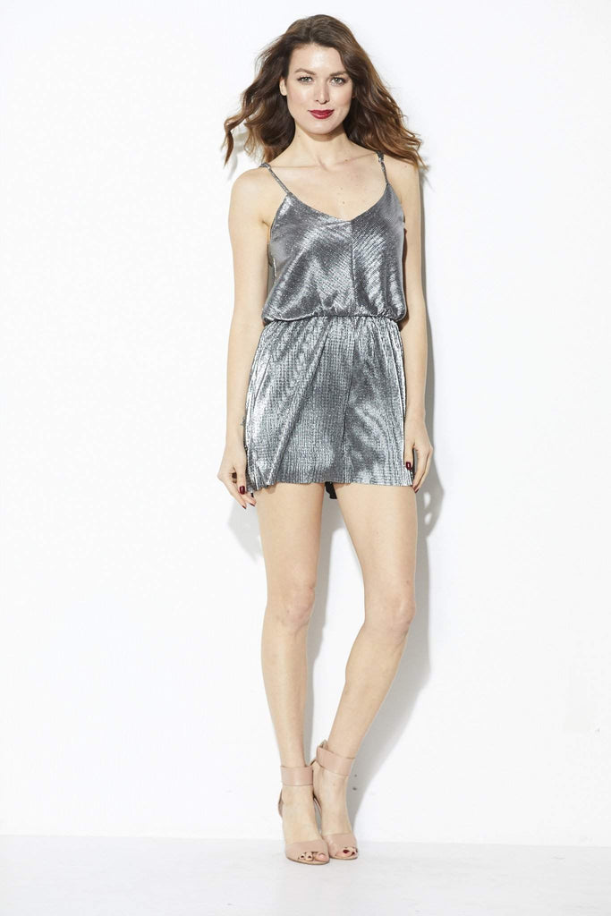 Everly - Gunmetal Romper - Front