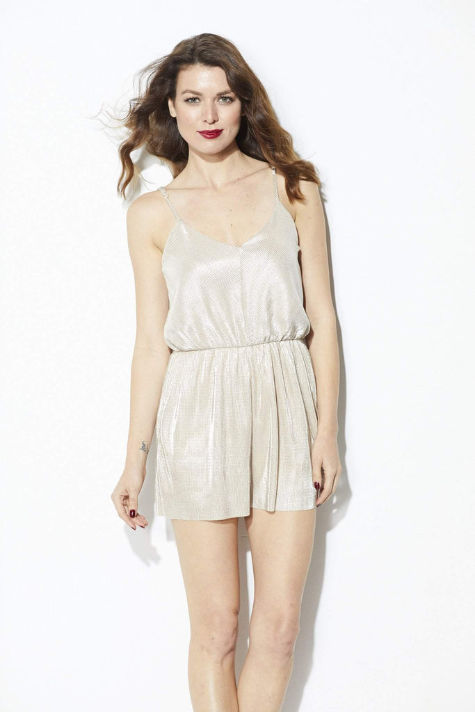 Everly - Champagne Romper - Front