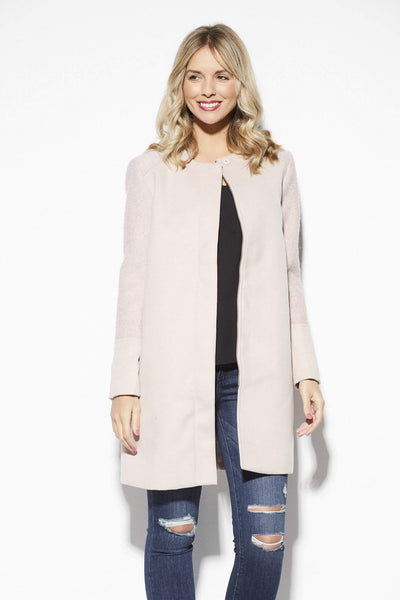 Cupcakes & Cashmere Blush Dress Coat - Front