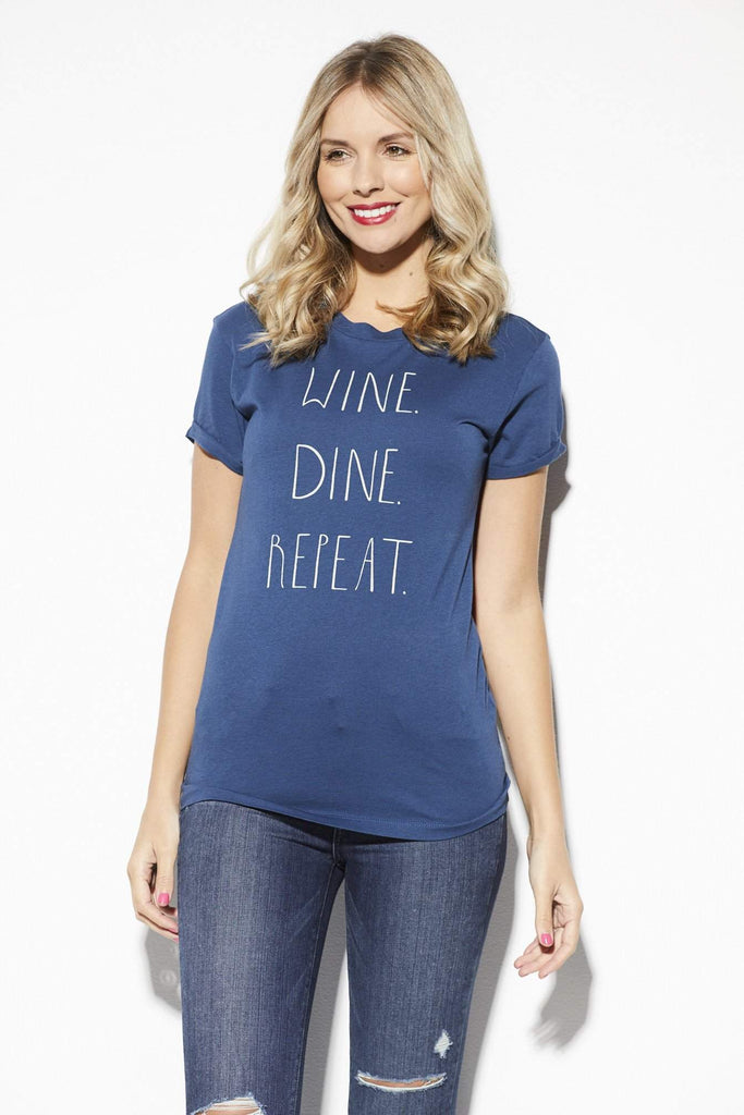 Signorelli Wine Dine Repeat Tee - Front