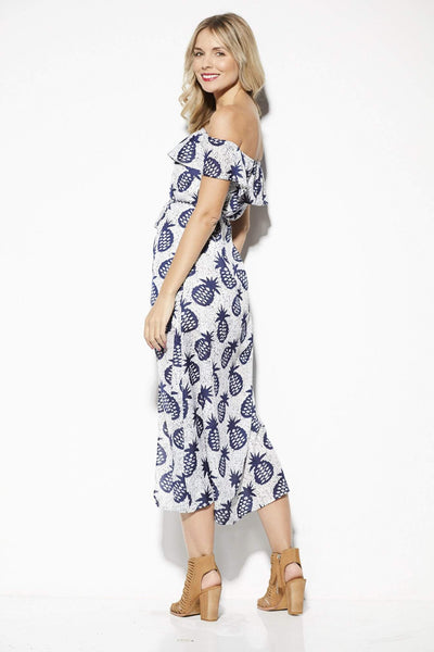 Lucca Couture Pineapple Midi Dress - Back