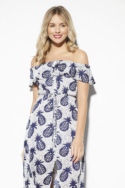 Lucca Couture Pineapple Midi Dress - Front