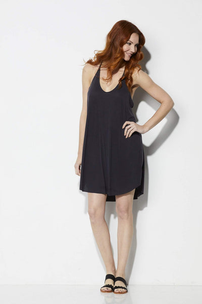 Lush Black Cami Dress - Front View