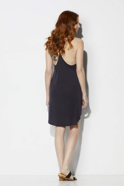 Lush Black Cami Dress - Back View