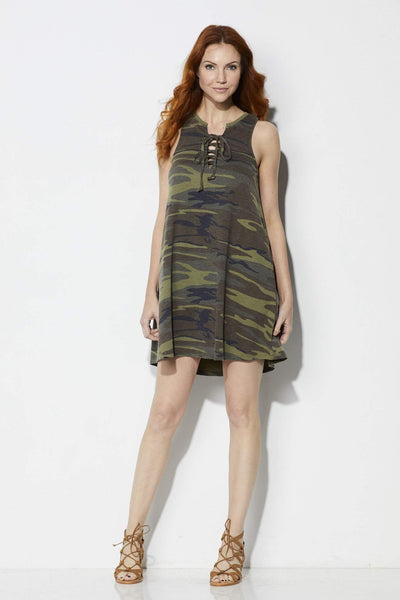 Z Supply The Camo All Tied Up Dress - Front