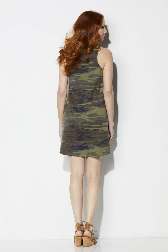 Z Supply The Camo All Tied Up Dress - Back