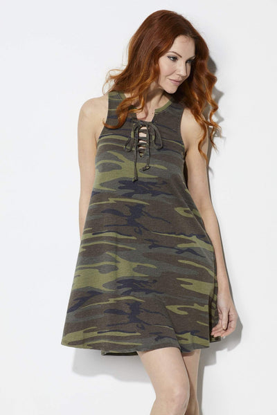 Z Supply The Camo All Tied Up Dress = Front