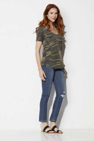 Z Supply The Camo Pocket Tee - Front