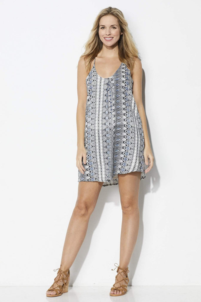 Bishop + Young Inverted Printed Swing Dress - Front