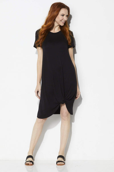 COA Black Side Knot Dress - Front