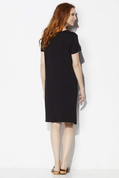 COA Black Side Knot Dress - Back