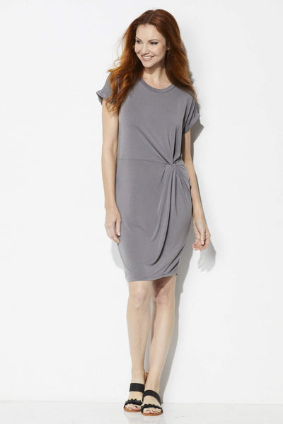 COA Knotted Roll Sleeve Dress - Front