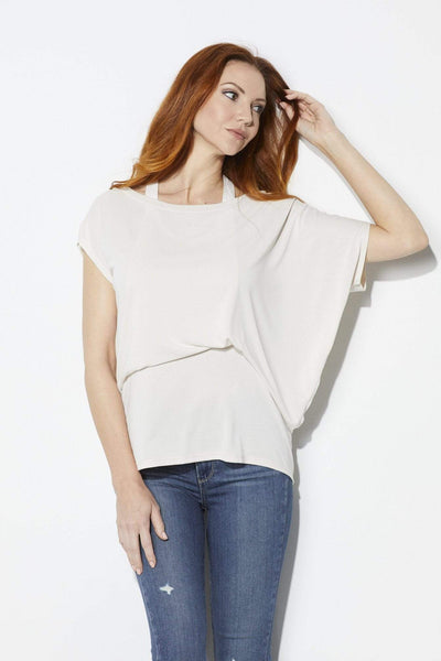 Ivory Blouse with Halter