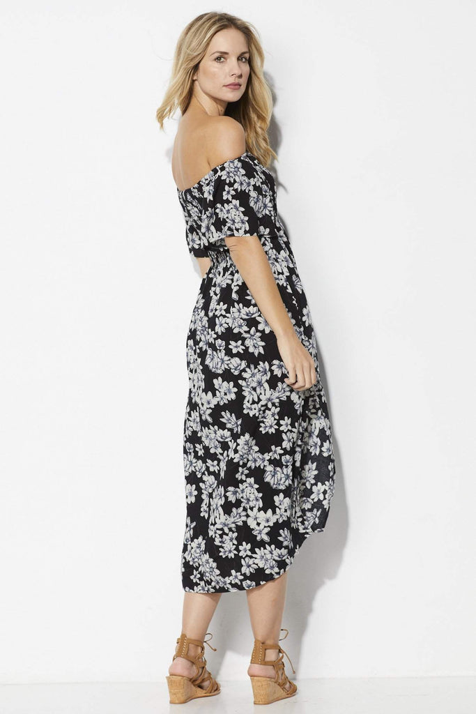 Loveriche Off the Shoulder Floral Midi - Side View