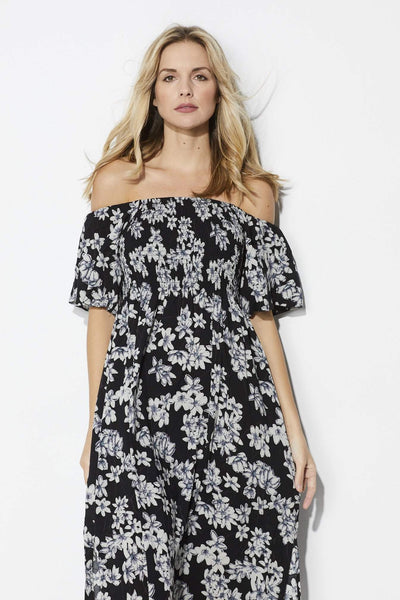 Loveriche Off the Shoulder Floral Midi - Front View