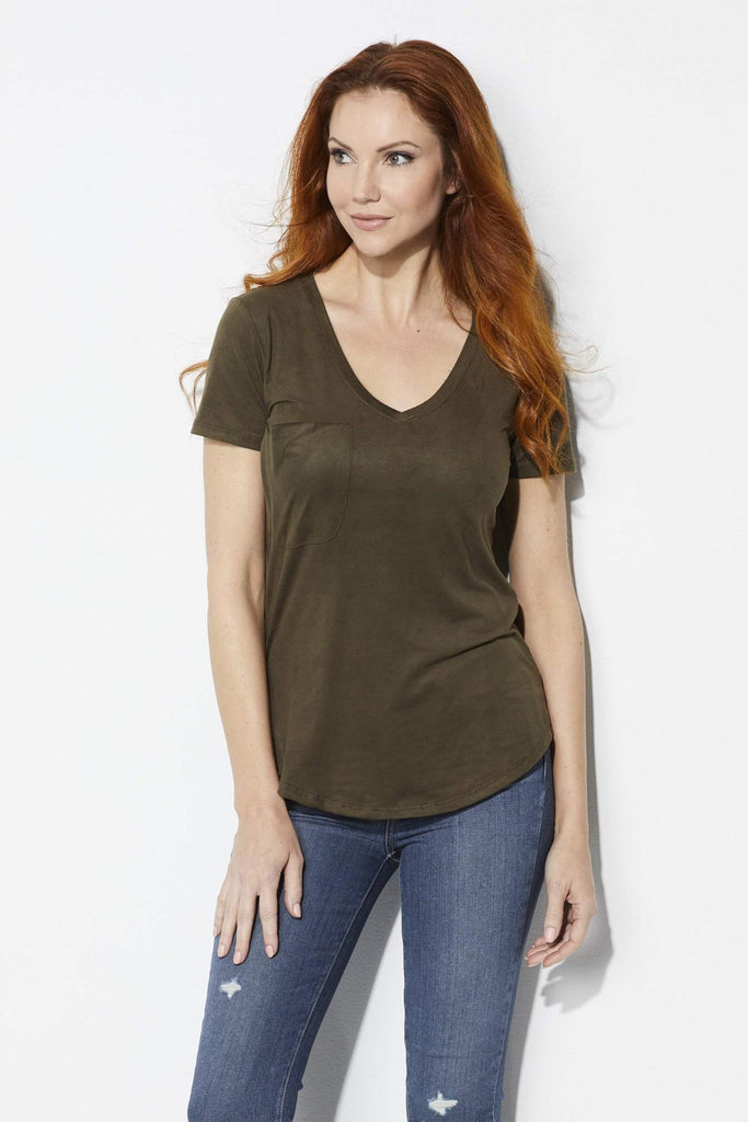 Z Supply The Suede Pocket Tee - Front