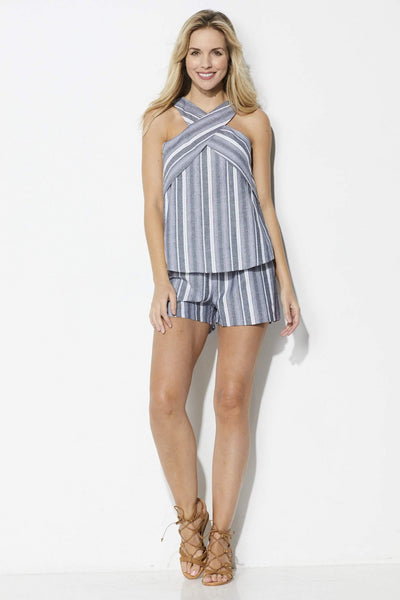 Coverii Stripe Patterned Top - Front View