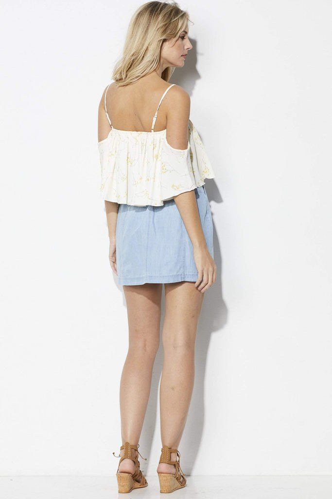 Jack Chambray Button Down Skirt - Back View