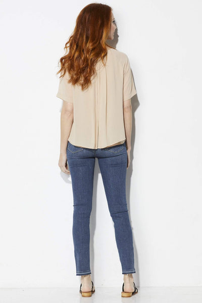 FRNCH Blush Pleated Top - Back
