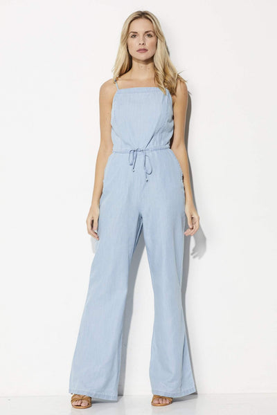 Jack Coriander Chambray Jumpsuit - Front View