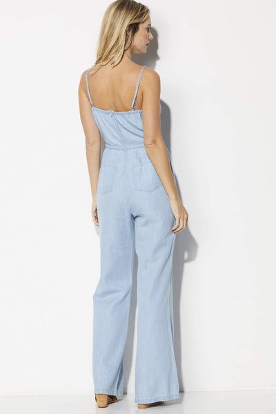 Jack Coriander Chambray Jumpsuit - Back View