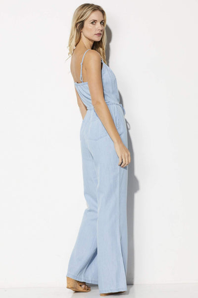 Jack Coriander Chambray Jumpsuit - Side View