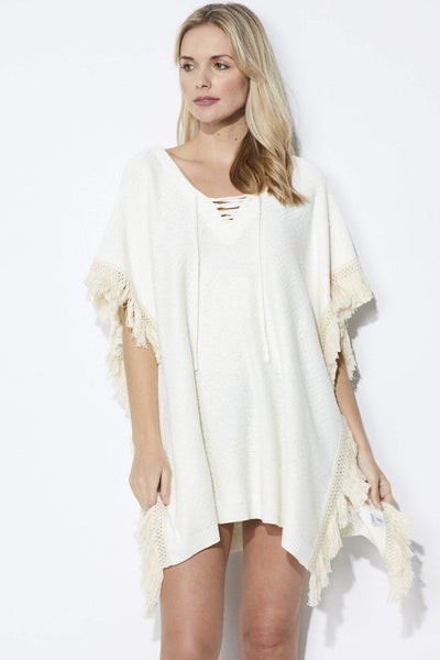 Bishop & Young Lace up Poncho - Front