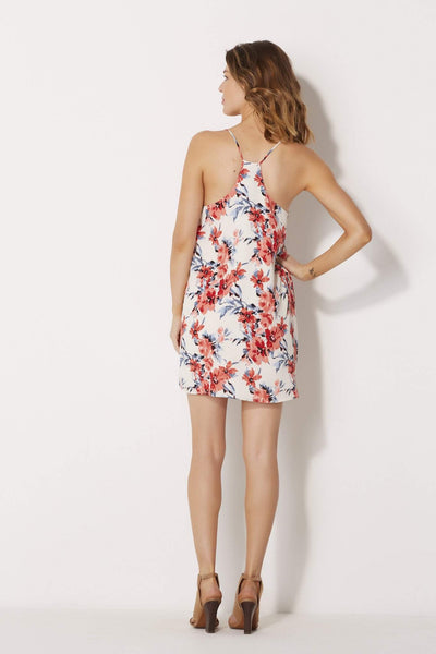 Inverted Pleat Floral Dress