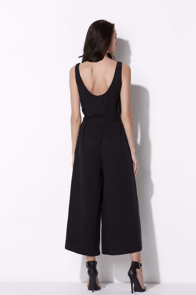 Wide Leg Culotte Jumpsuit