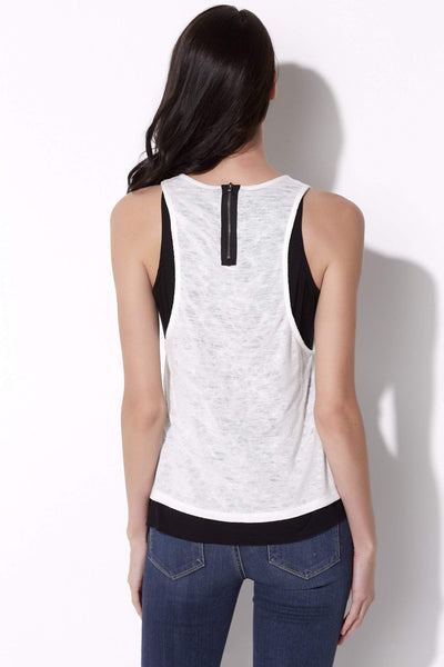 Layered Zipper Tank Top