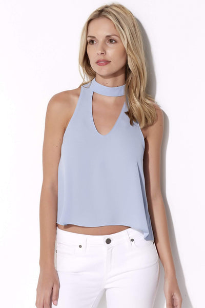 Baby Blue High Neck Top