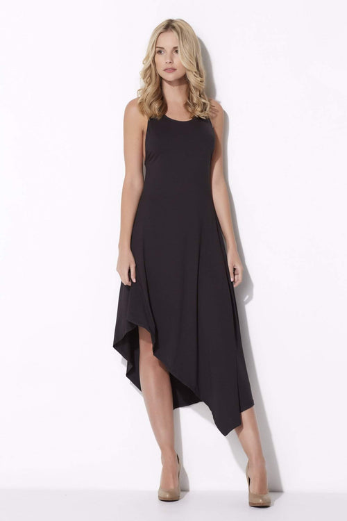 Coverii - Asymmetrical Midi Dress - front