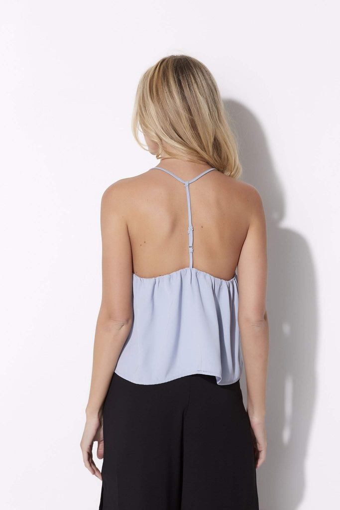 Baby Blue Y-Back Crop Top