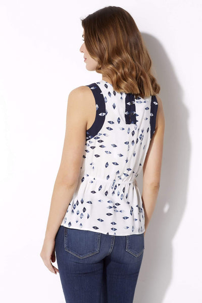 Subtle Peplum Print Top