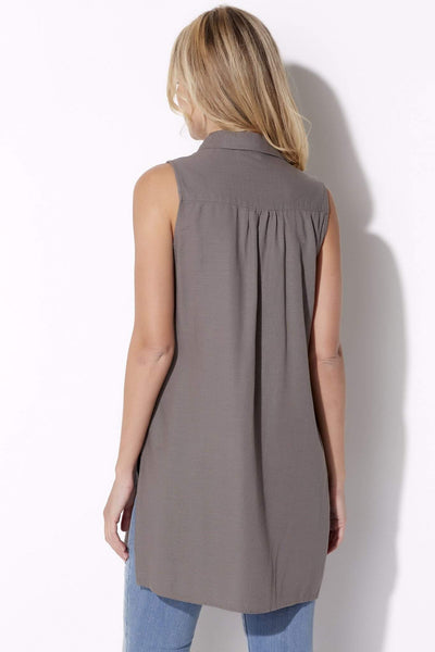 Button Up Tunic with Slits