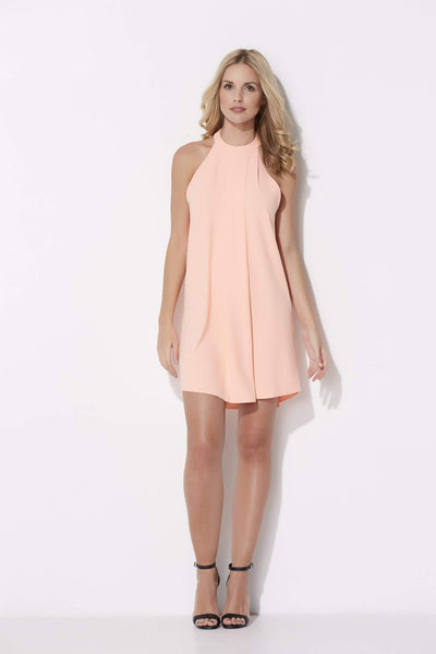 Bishop + Young - High Neck Melon Dress - front