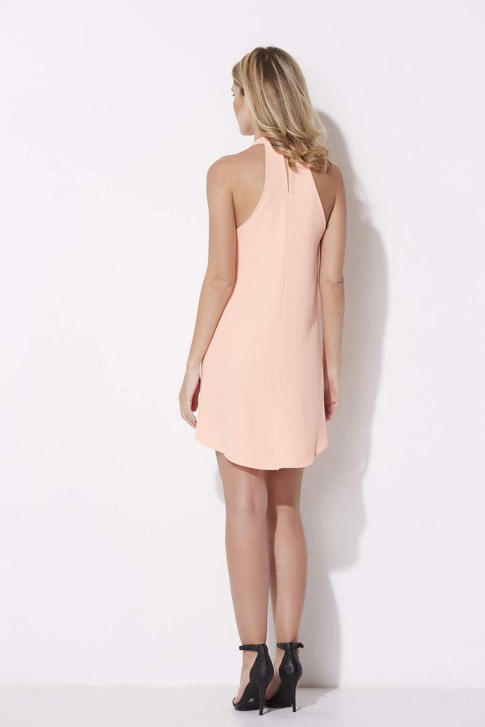Bishop + Young - High Neck Melon Dress - rear