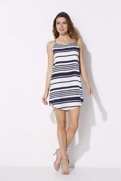 Navy and White Stripe Sundress